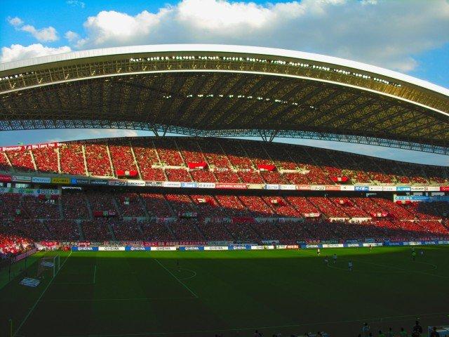 レッズファンで満員の埼玉スタジアム